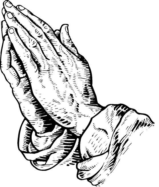 558x657 Praying Hands And Bible Clipart
