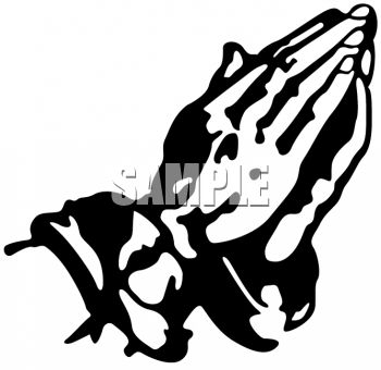 350x340 Praying Hands Black And White Clipart