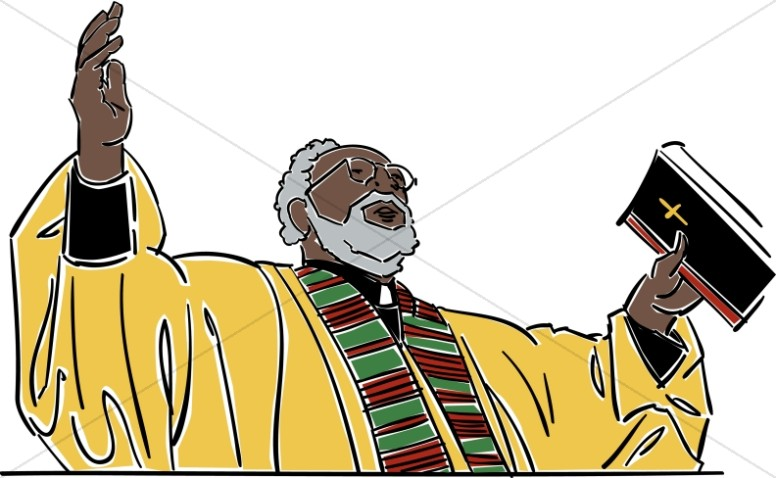 776x478 Reverend Addressing The Church Clergy Clipart