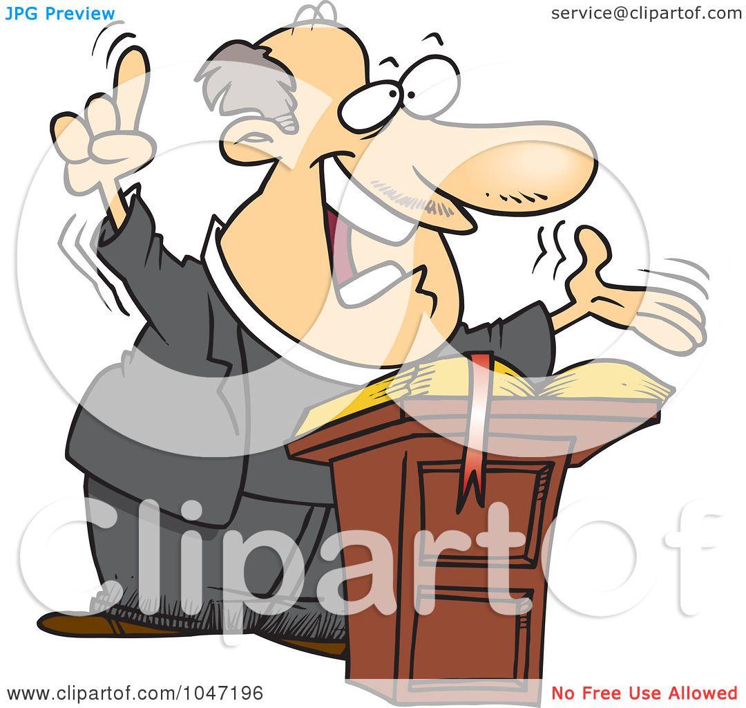 1080x1024 Royalty Free (Rf) Clip Art Illustration Of A Cartoon Preaching