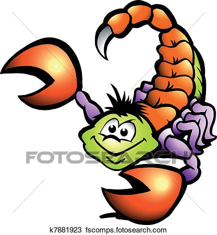 434x470 Clipart Of Danger Scorpion K7881923