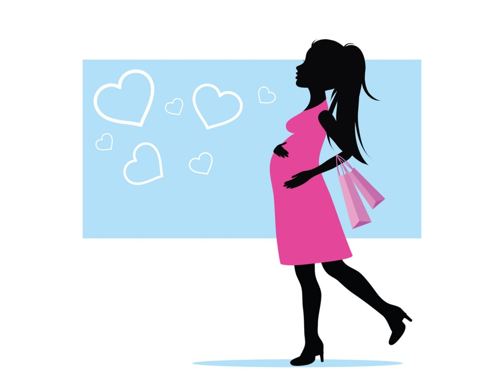 1024x768 Pink Clipart Pregnant