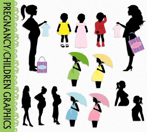 570x513 Pregnancy Pregnant Clip Art Graphic Kid Children Clipart Scrapbook