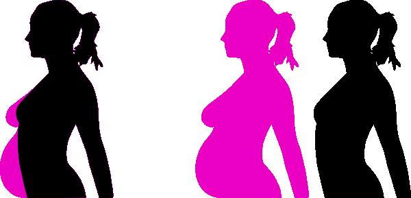 600x289 Pregnancy Silhouette 4 Clip Art