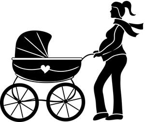 300x253 Pregnancy Clipart Pregnant Woman Clipart Image