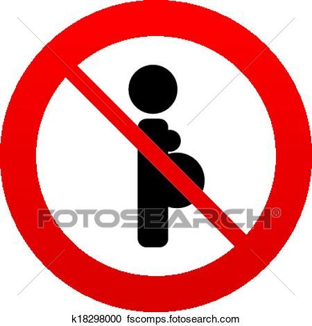 450x470 Clipart Of No Pregnant Sign Icon. Pregnancy Symbol. K18298000