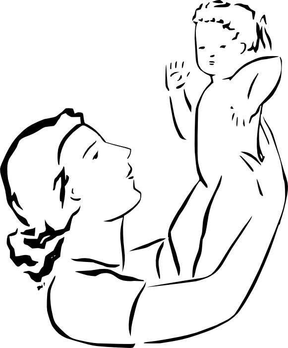 581x700 Mother And Baby Clipart Pregnant Mother