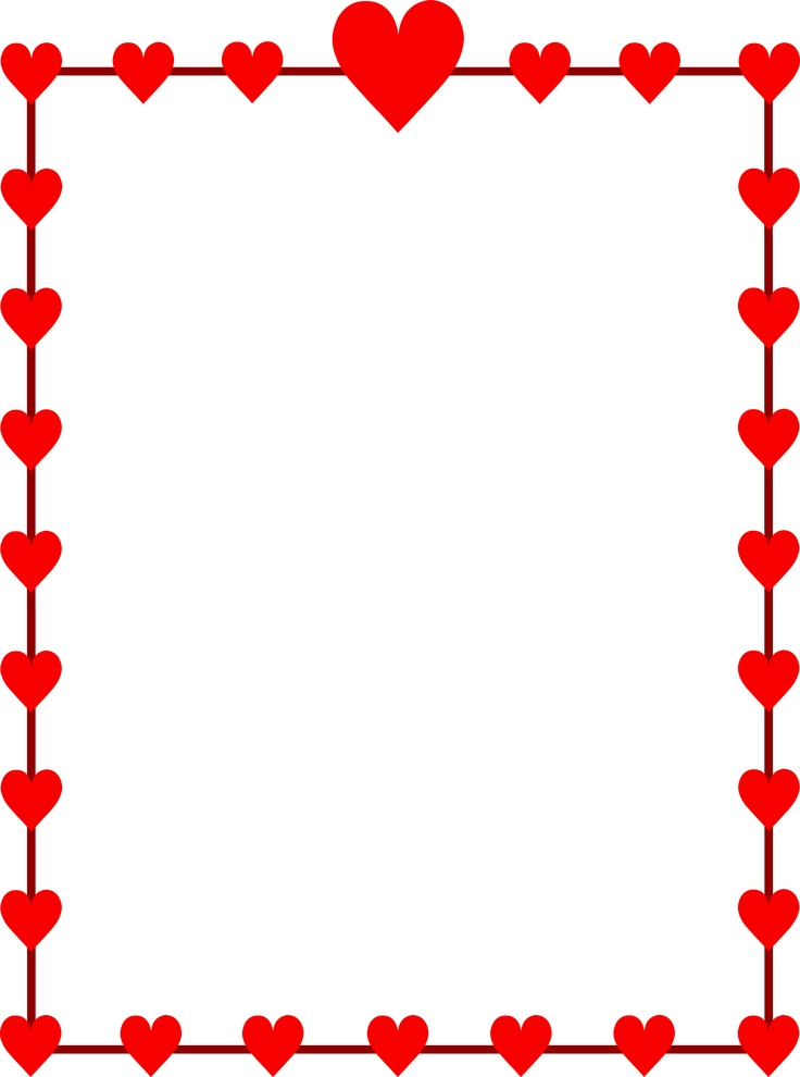 736x990 February Clip Art Borders