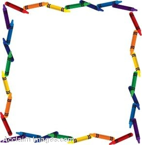 292x300 Free Clip Art For Teachers Clip Art Of A Crayon Page Border