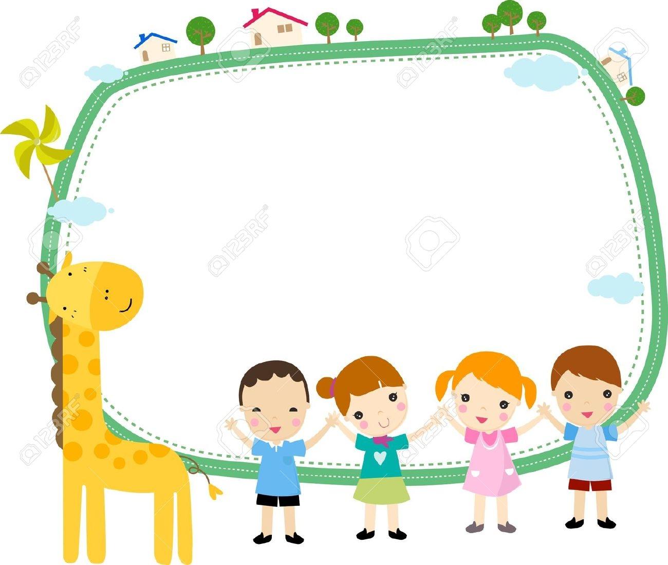 Preschool Borders on Preschool Name Tag