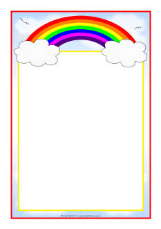 233x330 Rainbow Themed A4 Page Borders Rainbows