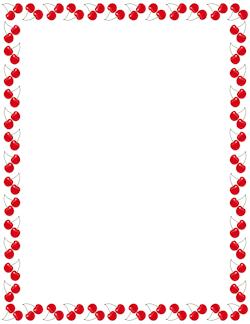 250x324 Cherry Border Frames Border Templates
