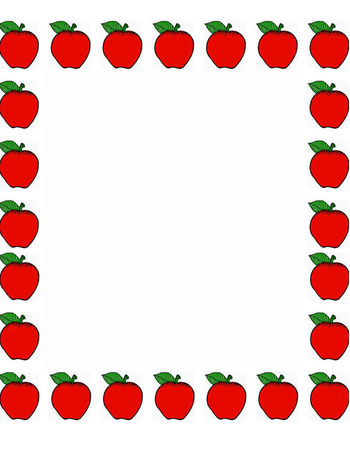 710x915 Frame Clipart Apple