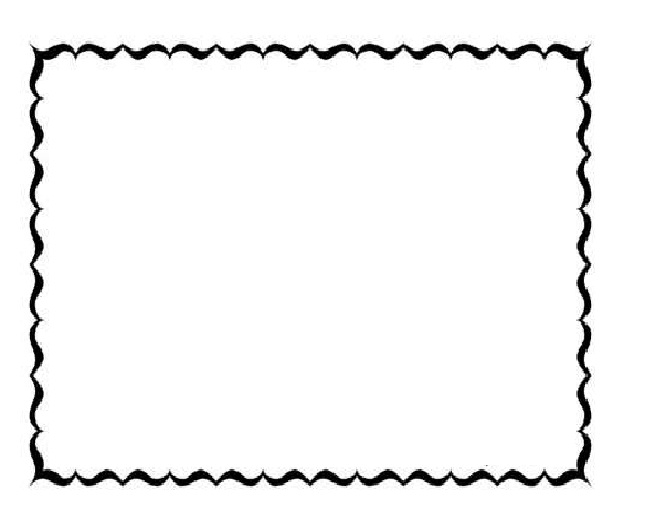646x526 Preschool Borders Black And White Clipart