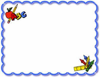 337x260 School Photo Frame Clipart