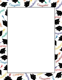 236x305 Graduation Border Clip Art