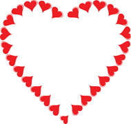 190x180 Hearts Border Clip Art Free