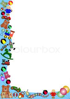 227x320 Preschool Border Clip Art