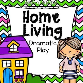 350x350 Home Living Dramatic Play Center For Preschool, Pre K,