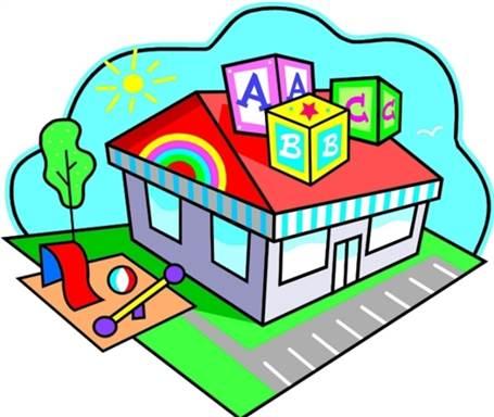 455x384 Places Clipart Preschool Building