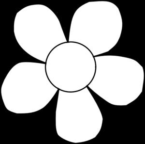 300x297 Black And White Daisy Clip Art