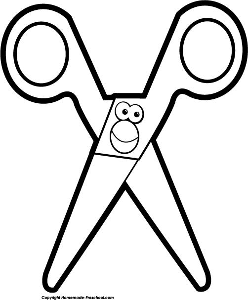 502x607 Scissors Black And White Dromhfj Top Clip Art