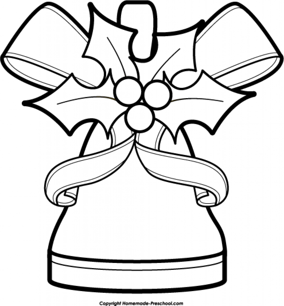 950x1024 Free Clipart Black And White Christmas Bells Png Clipartfestpng