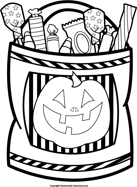 524x713 Bag Of Candy Black And White Clipart