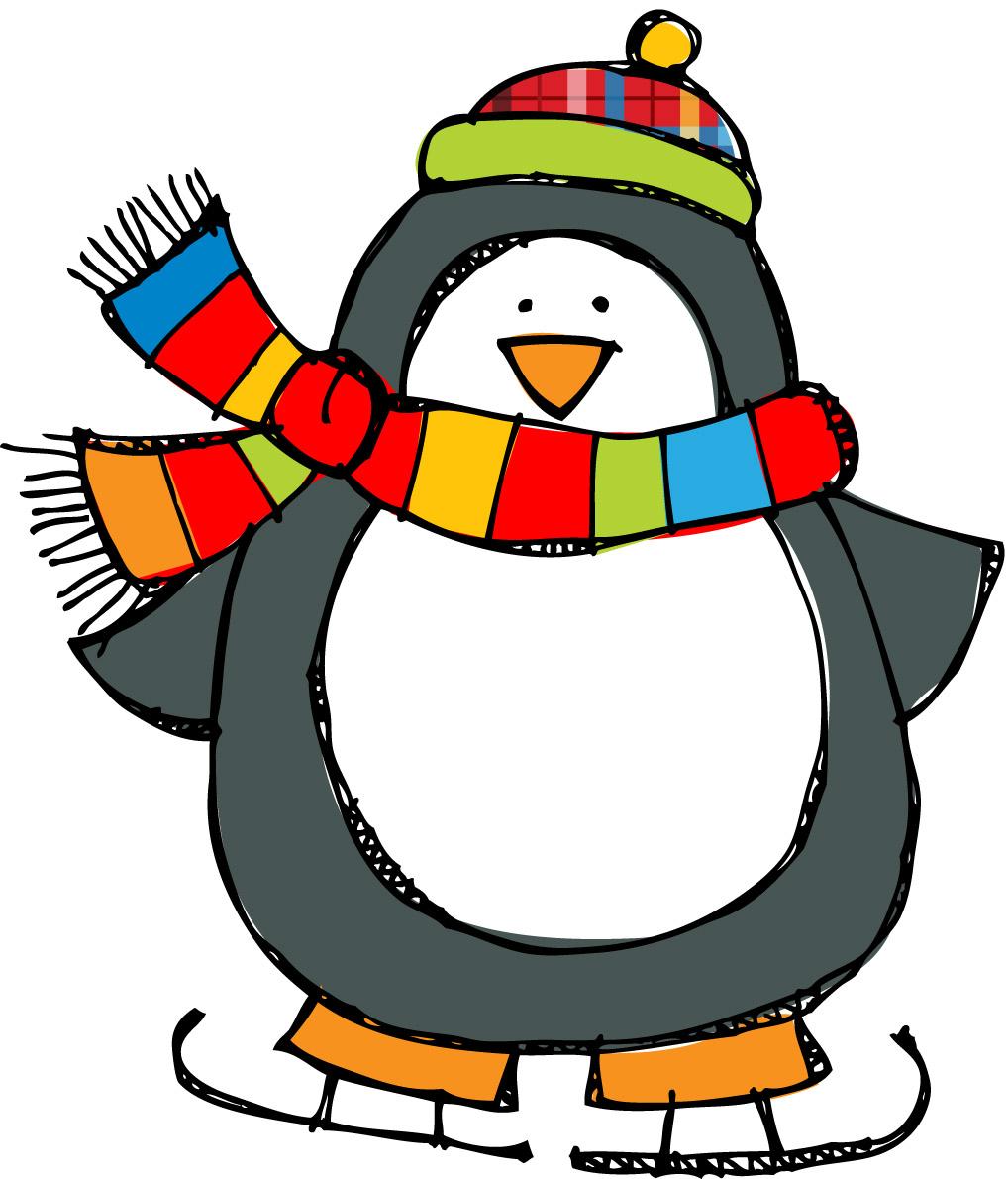 1018x1190 Christmas Penguin Clip Art Free Clipart Images