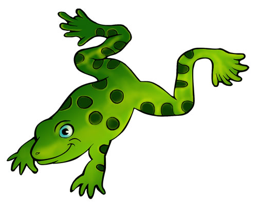 500x412 Clipart Free Frog
