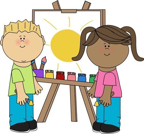 500x466 Preschool Art Clipart