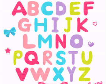 340x270 Alphabet Digital Vector Clip Art Alphabets Digital Clipart