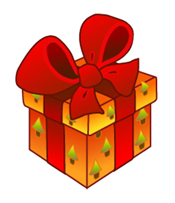 344x400 Cute Christmas Present Clip Art