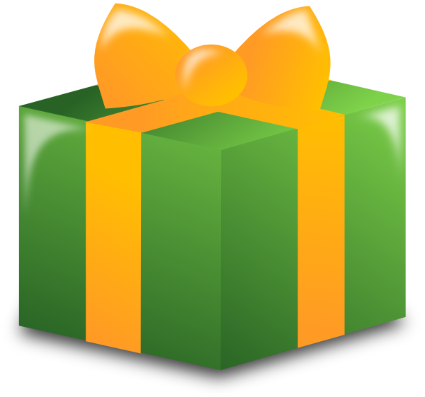 600x561 Wrapped Present Clip Art