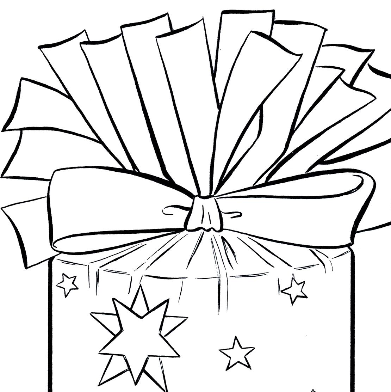 1110x1112 Present Black And White Christmas Present Clip Art Fun