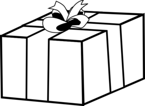298x219 Gift Present Outline Clip Art
