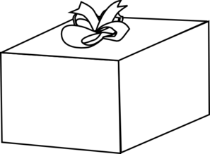 297x219 Gift With Bow Clip Art