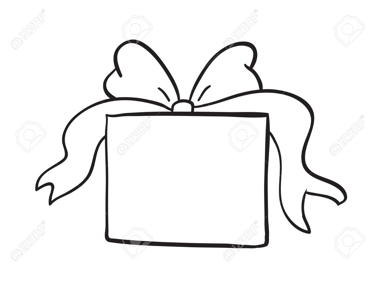 1300x1019 Gift Clipart Outline