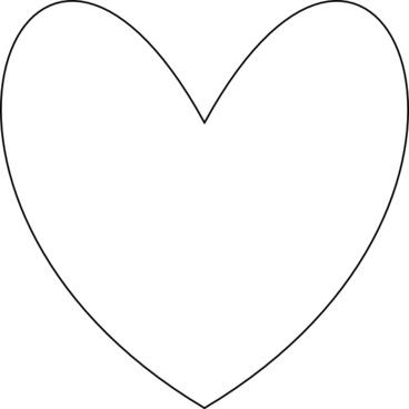 368x368 Heart Outline Vector Svg Free Vector Download (90,625 Free Vector