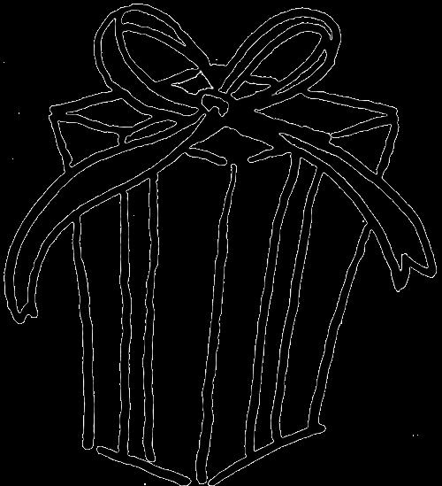 500x549 Present Outline Cliparts 246804