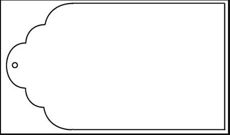 453x266 Tag Outline Clip Art