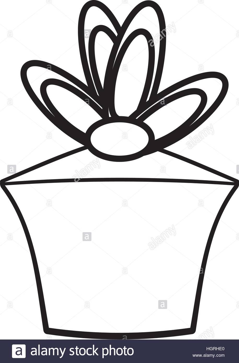 915x1390 Gift Box Birthday Celebration Outline Vector Illustration Eps 10