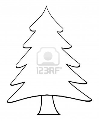 328x400 Christmas Tree Outline Clipart