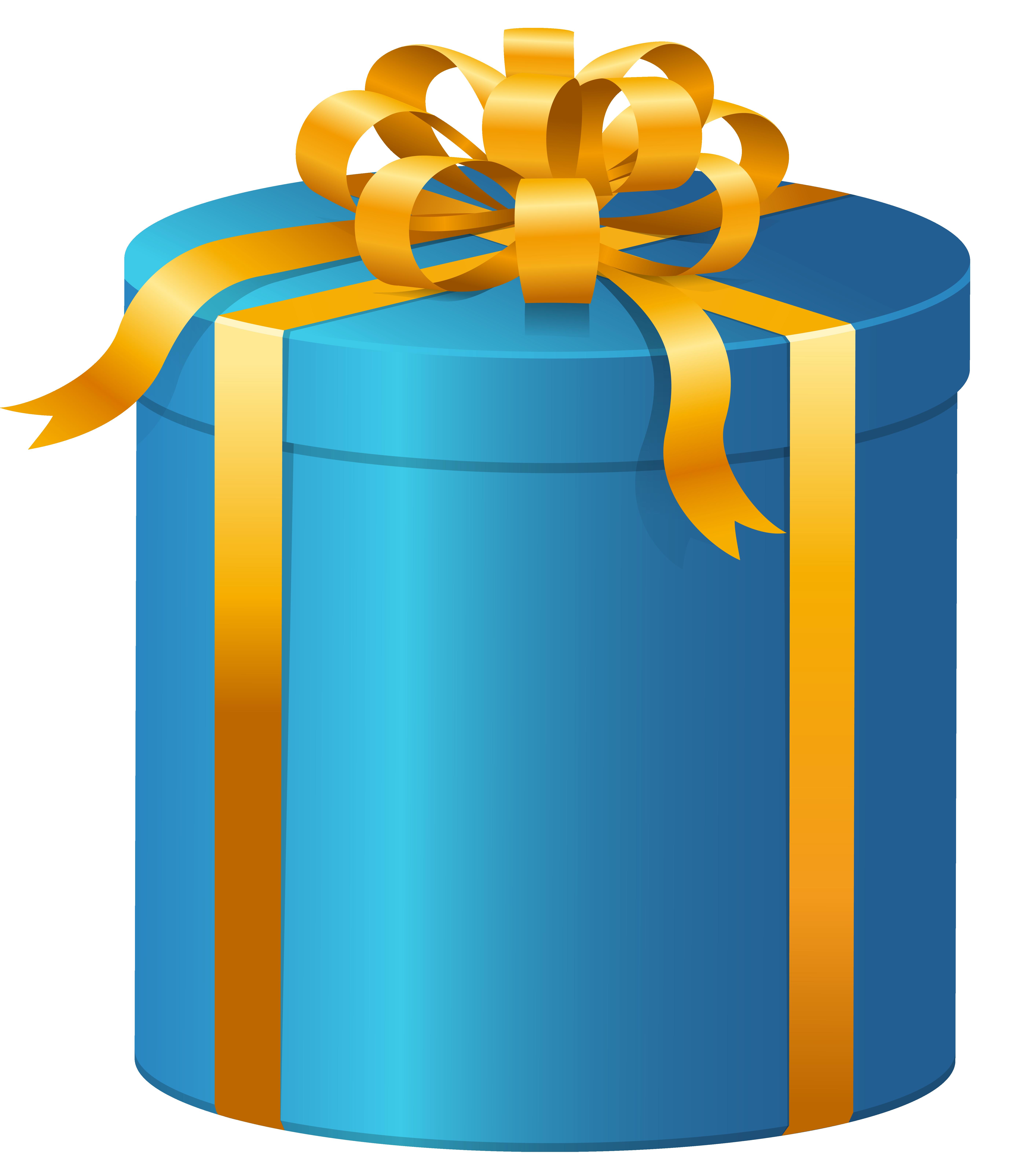 5650x6387 Blue Present Box Png Clip Art