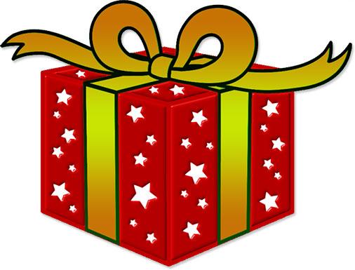 506x385 Christmas Present Clip Art