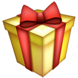 256x256 Wrapped Present Emoji For Facebook, Email Amp Sms Id  1941