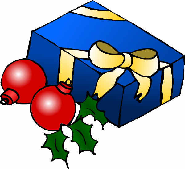 600x548 Free Christmas Present Clipart