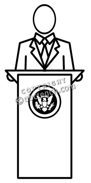 300x600 Presidents Clipart Black And White