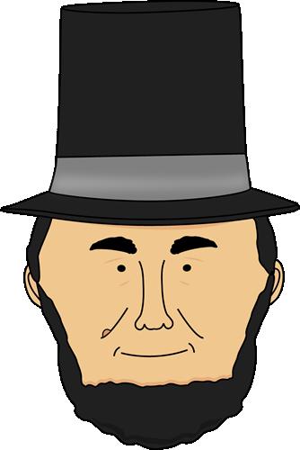 334x500 Abraham Lincoln Face Clip Art
