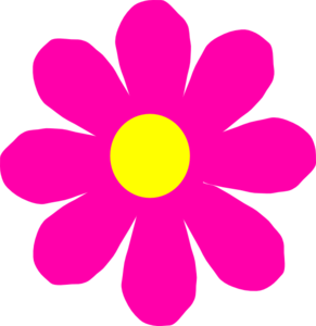 291x300 Pretty Pink Flower Clip Art